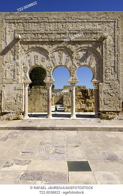 Cordoba (Spain). Door of the first Minister in the city of Medina Azahara