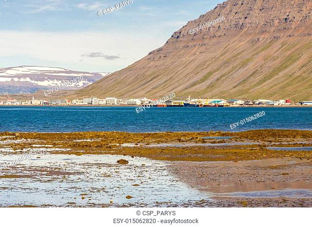 View on Isafjordur town - Iceland