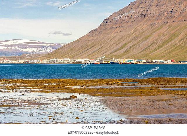 View on Isafjordur town - Iceland