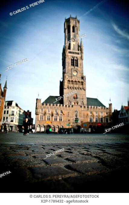 Belfort Tower  Market Square Markt  Brugge  Belgium