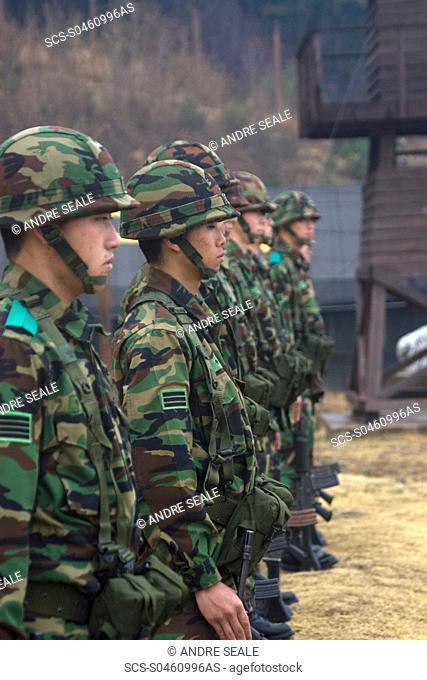 Korean soldiers at the Prisoner of War Camp museum, Geoje-do Park, South Korea