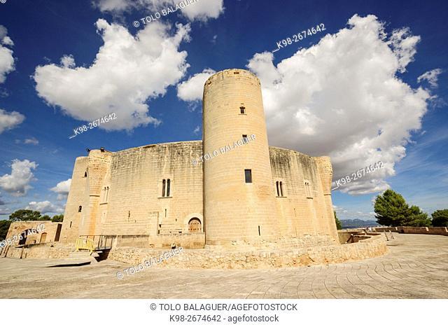 Castillo de Bellver -siglo. XIV-, Palma de mallorca. Majorca, Balearic Islands, Spain