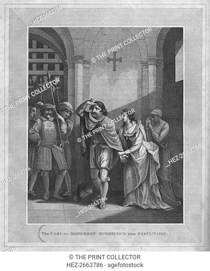 'The Earl of Somerset Summoned for Execution', 1838. Artist: Unknown