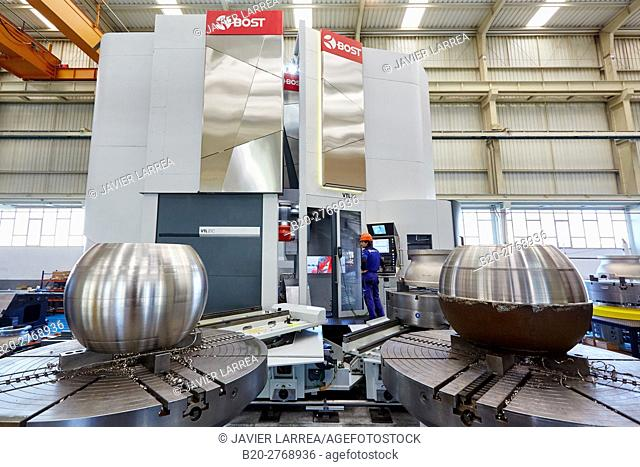 Automated installation for machining parts, Machining Centre, CNC, Vertical lathe, Design, manufacture and installation of machine tools, Gipuzkoa