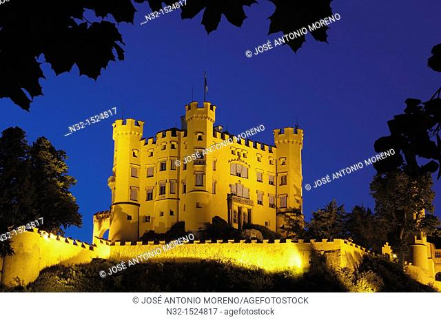 Hohenschwangau Castle, Romantic Road, Romantische Strasse, Allgau, Fussen, Bavaria, Germany, Europe