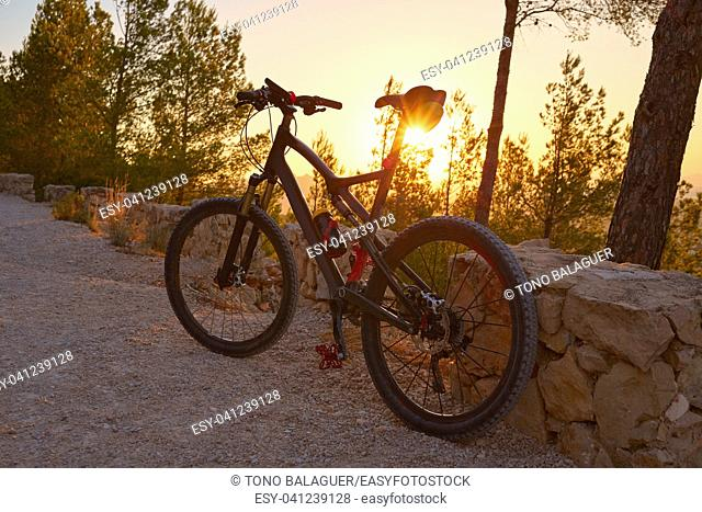 Denia Alicante from Montgo with MTB bicycle mountain bike