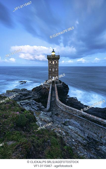 .Kermorvan Lighthouse, Le Conquet, Brest, Finistère departement, Bretagne - Brittany, France, Europe