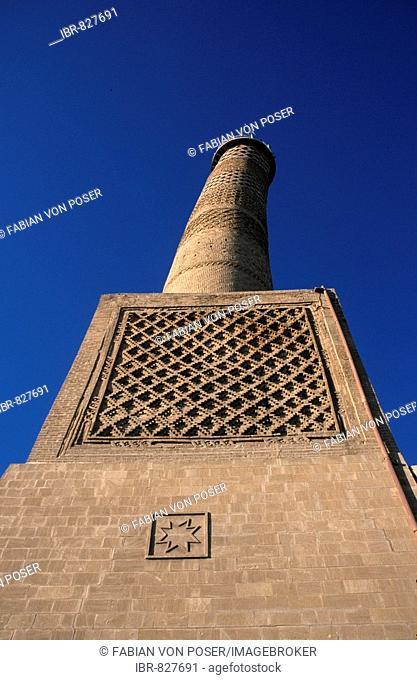 Crooked minaret of the Nuriya-mosque, built 1148, Jami an-Nuri, Mossul, Iraq, Asia