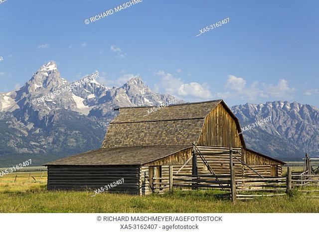 John Moulton Barn, Mormon Row, Grand Teton National Park, Wyoming, USA