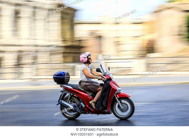 Scooter, Old Town, Rome, Lazio, Italy