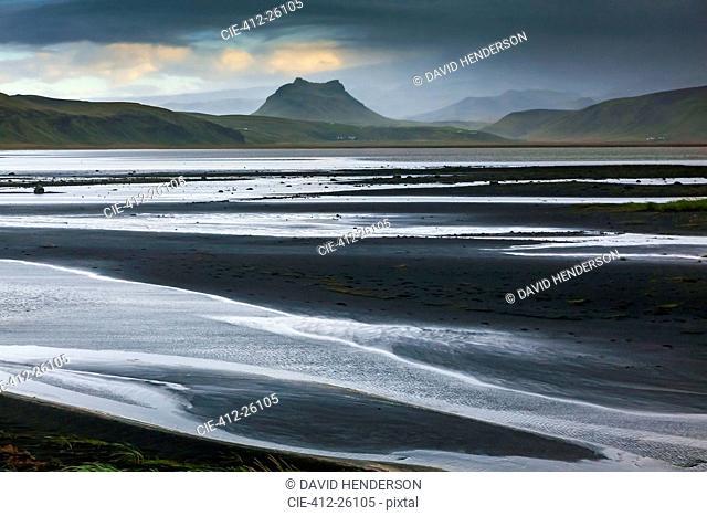 Black sand beach, Dyrholaey, Iceland