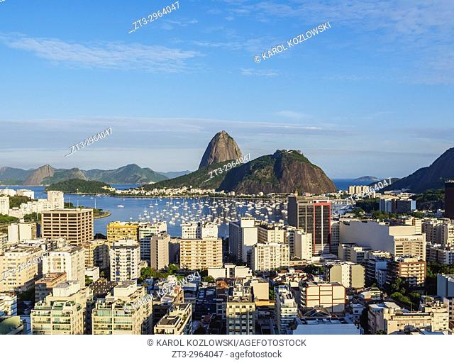 View over Botafogo towards the Sugarloaf Mountain, Rio de Janeiro, Brazil