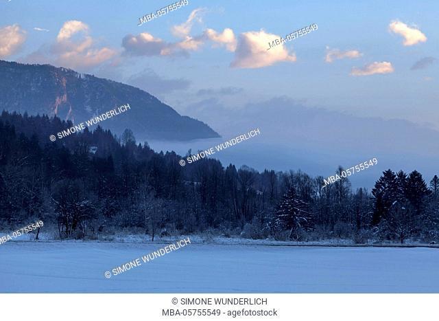 Winter scenery in the Gailtal, Carinthia