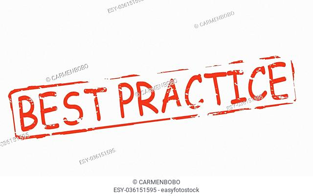 Rubber stamps with text best practice inside, vector illustration