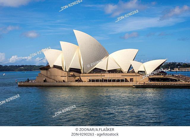 View on Sydney Opera house in daylight