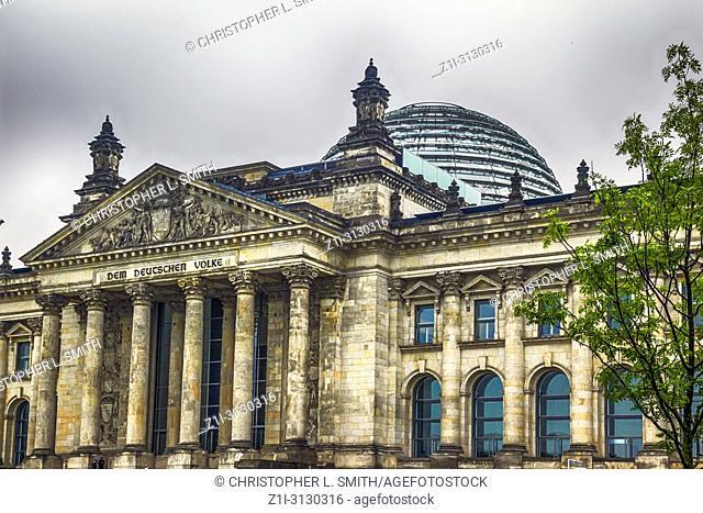 The Deutscher Bundestag (parliament building) in Berlin, Germany