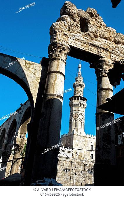Umayyad Mosque built 705-715 by caliph Al-Walid I, Damascus. Syria