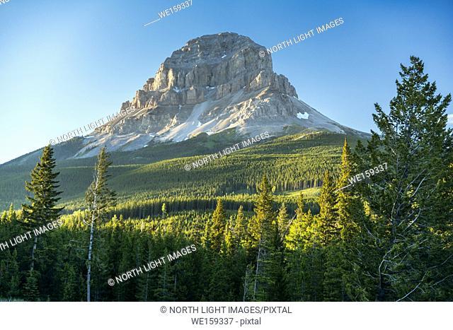 Canada, Alberta, Calgary. Crowsnest Mountain, in the Rocky Mountain range, south of Calgary