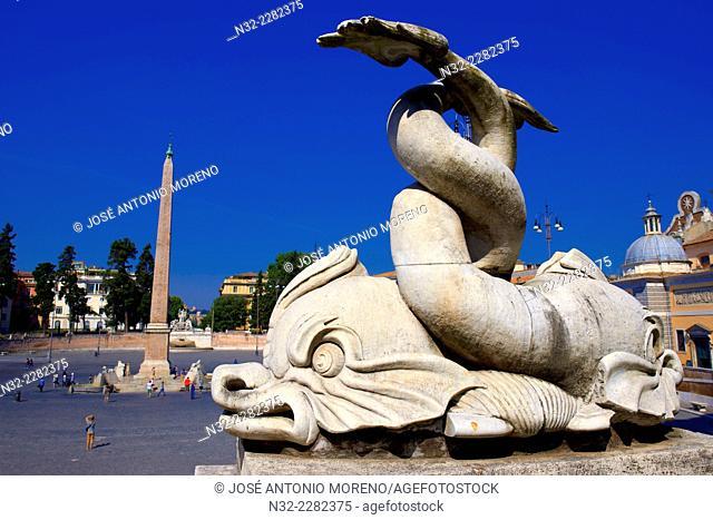 Piazza Del Popolo. Rome. Lazio. Italy