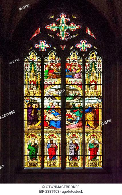 Cologne Cathedral, stained-glass window, North Rhine Westphalia, Germany, Unesco World Heritage Site