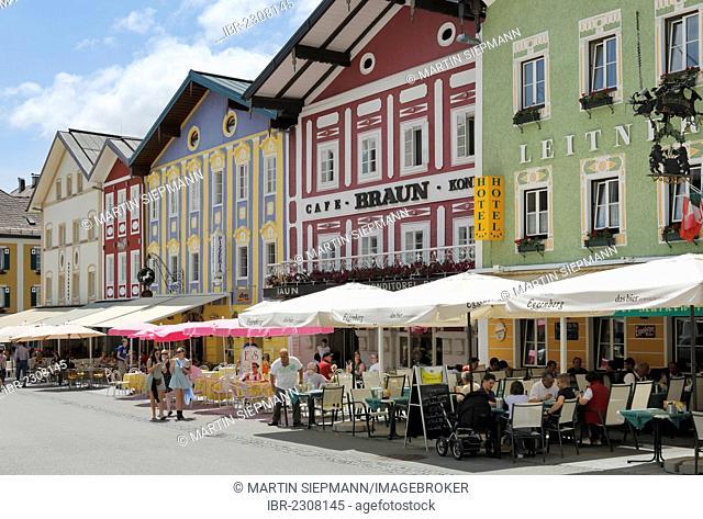 Market square in Mondsee, Salzkammergut region, Upper Austria, Austria, Europe, PublicGround