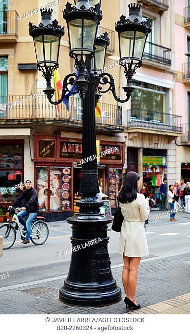 Ramblas. Barcelona. Catalonia. Spain