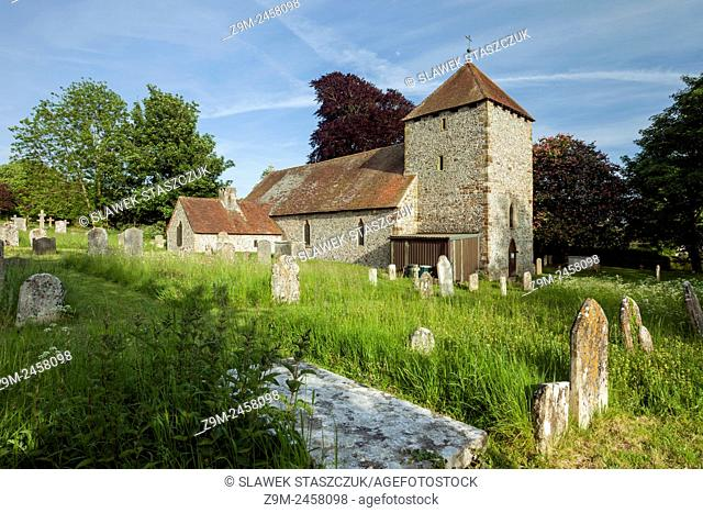 St Michael's church in South Malling, Lewes, East Sussex, England. South Downs National Park