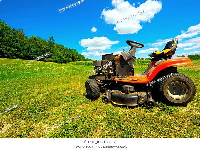Wide angle old mower