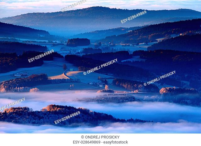 Cold morning in Sumava National park, Czech Republic