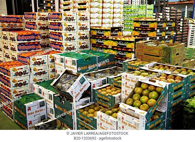 Mercabilbao fruits and vegetables wholesale market, Basauri, Bilbao, Bizkaia, Euskadi, Spain