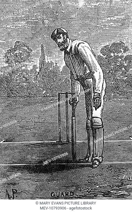 A player comes to he's crease as he is about to start batting