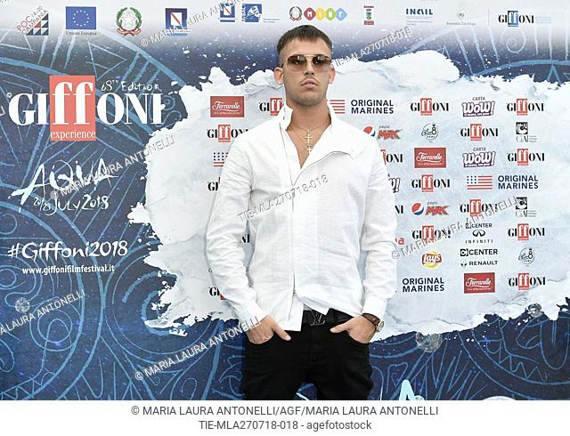 The rapper Vegas Jones during the photocall at the 48th Giffoni Film Festival, Giffoni, ITALY-26-07-2018