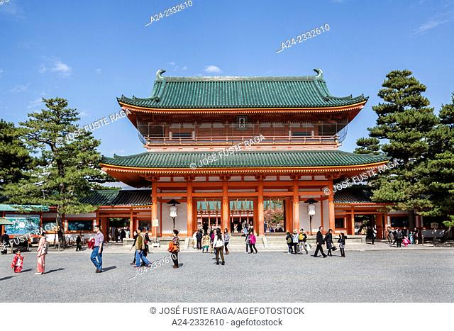 Japan , Kansai,Kyoto City,heian Jingu Shrine, (W.H.)