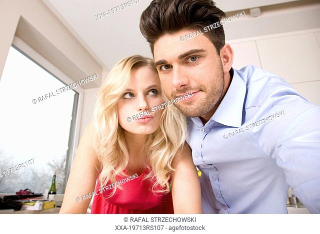 Couple in the flat