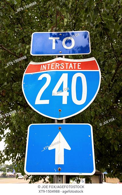 sign for interstate 240 in memphis tennessee usa