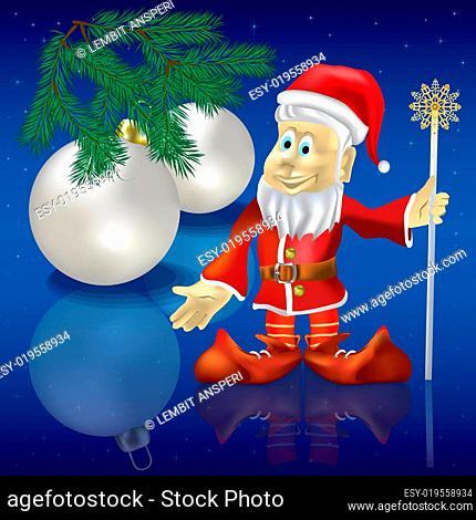 Christmas greeting with Santa Claus
