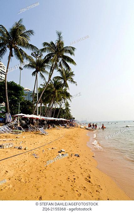 View over Jomtien Beach in Pattaya, Thailand