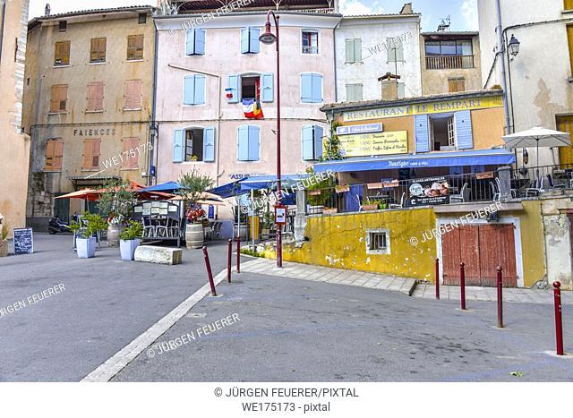 village Riez, Provence, department Alpes-de-Haute-Provence, region Provence-Alpes-Côte d'Azur