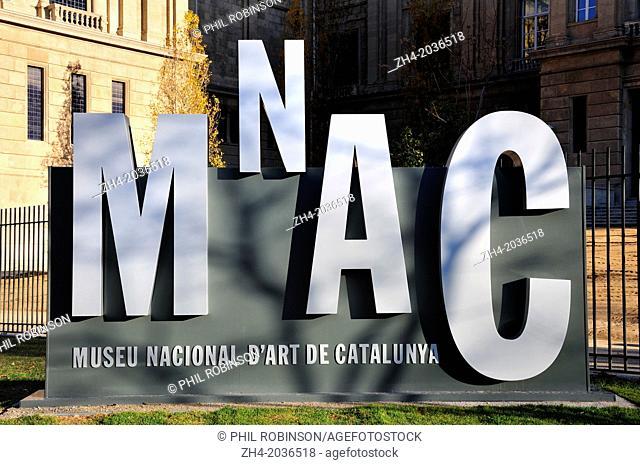 Barcelona, Spain. MNAC - Museu Nacional D'Art de Catalunya in the Palau Nacional on Montjuic Hill