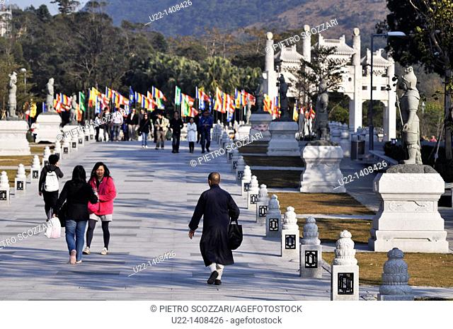 Hong Kong: the Ngong Ping Piazza in Po Lin, on Lantau Island