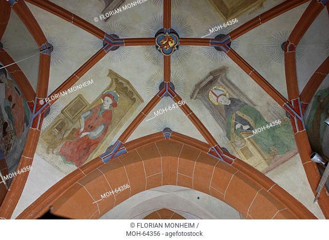 Südliches Seitenschiff, Fresken im 3. Joch, Kirchenväter