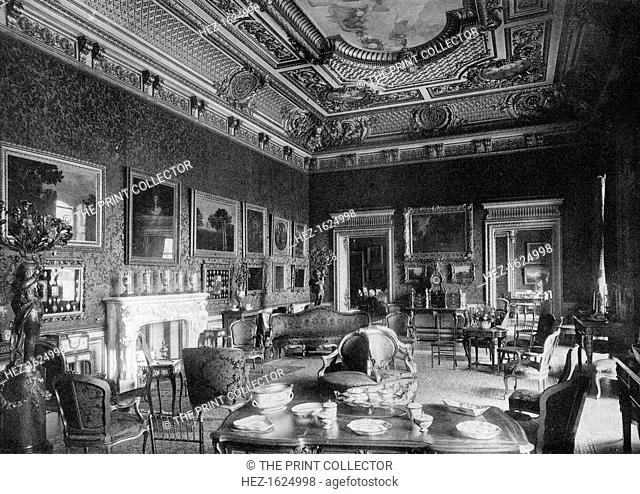 The drawing-room, Montagu House, 1908. A photograph from The Private Palaces of London by E Beresford Chancellor, (Kegan Paul, Trench, Trubner and Co, London