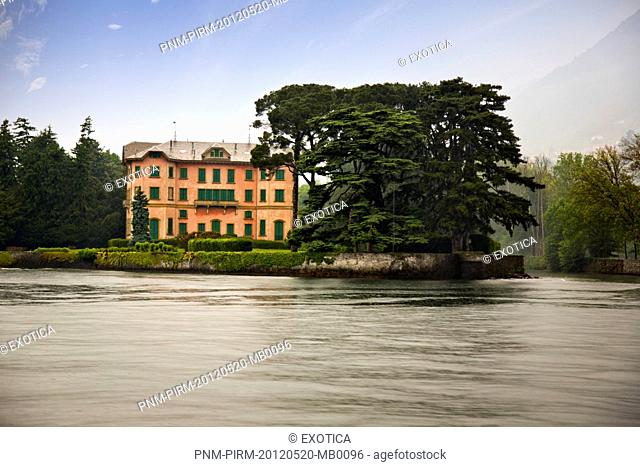 Building at the waterfront, Como, Lombardy, Italy