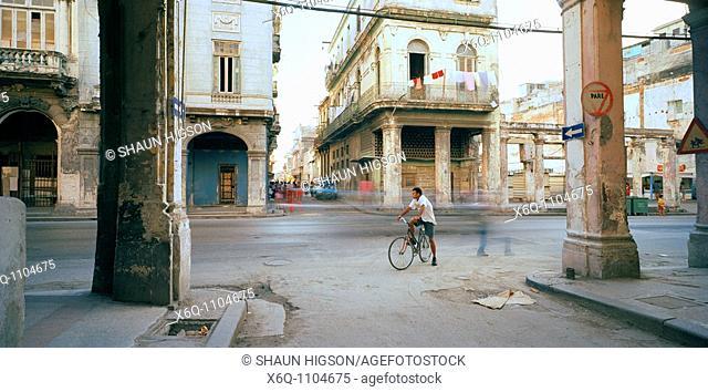 A street scene of Havana in Cuba in Central Latin America