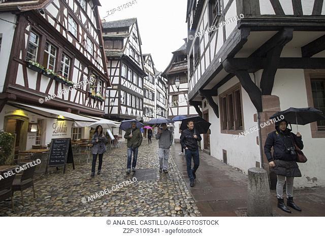 Cityscape in Strasbourg in Alsace. France