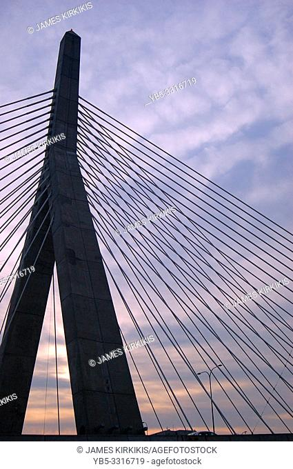 The anchor of the Zakim Bridge in Boston