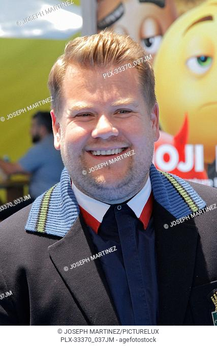 """James Corden at the World Premiere of Columbia Picture's """"""""The Emoji Movie"""""""" held at the Regency Village Theatre in Westwood, CA, July 23, 2017"""