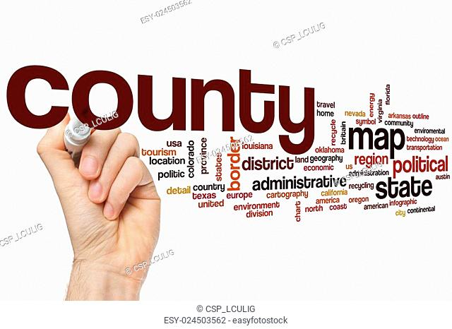 County word cloud