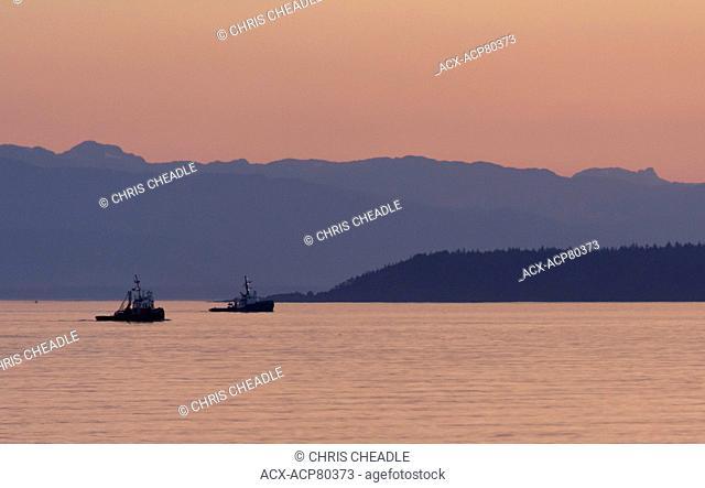Two tugboats, Powell River, British Columbia, Canada