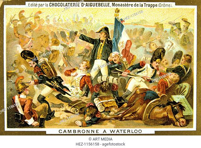 'Cambronne at the Battle of Waterloo', 18 June, 1815, (19th century). Invited to surrender the French commander of the Guard